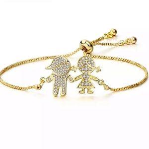 18k gf family bracelet